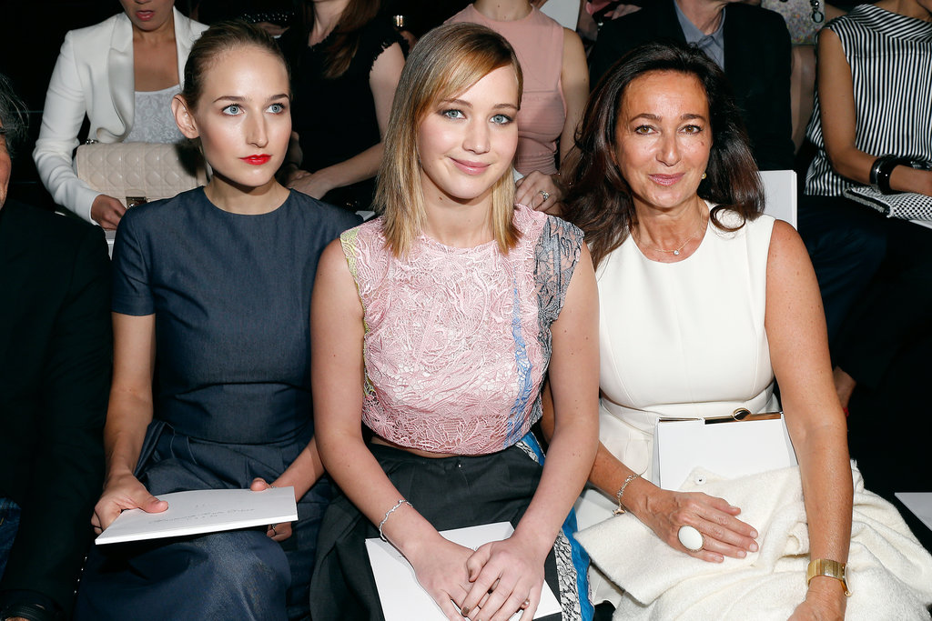 Leelee Sobieski and Jennifer Lawrence joined Sidney Toledano in the front row at Christian Dior on Monday.
