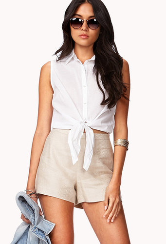 FOREVER 21 High-Waisted Linen Shorts