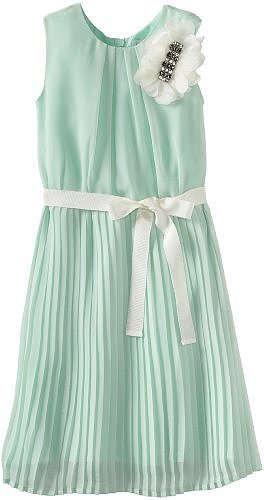 Blush by Us Angels Girls 7-16 Chiffon Dress With Pleat Skirt