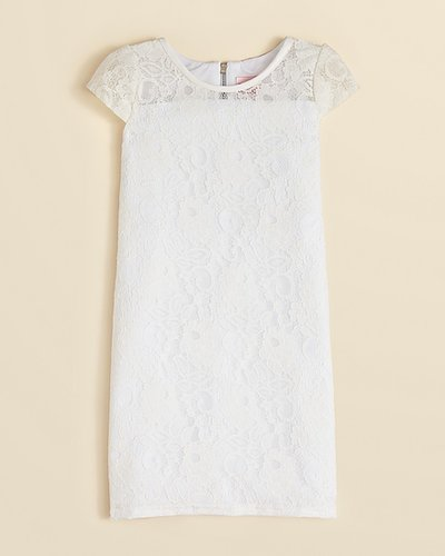 Zoe Girls' Floral Lace Dress - Sizes 7-16