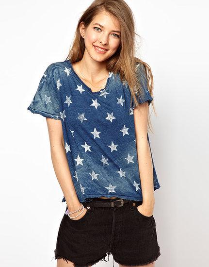 Current/Elliot Star Print T-Shirt