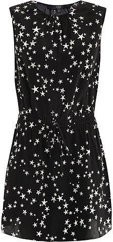 Tibi Star-print silk dress