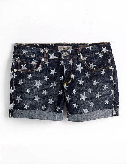 VINTAGE AMERICA Star Print Denim Shorts