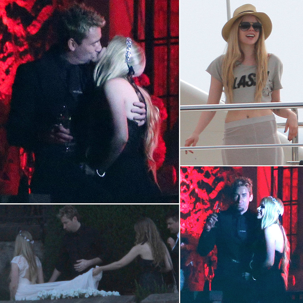 Avril Lavigne and Chad Kroegers romantic wedding