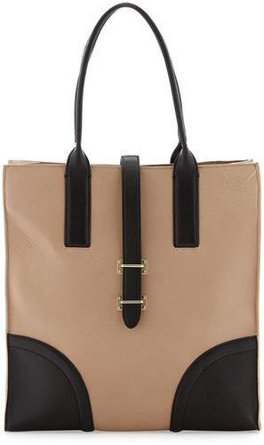 Foley + Corinna North-South Tote Bag, Black/Buff