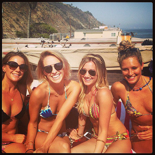 Ashley Tisdale logged bikini time with a group of girlfriends. Source: Instagram user ashleytis