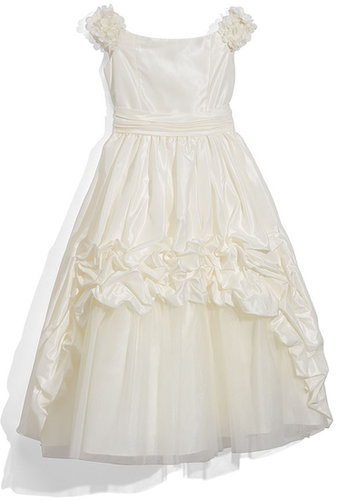 Joan Calabrese for Mon Cheri Taffeta Dress (Little Girls & Big Girls)