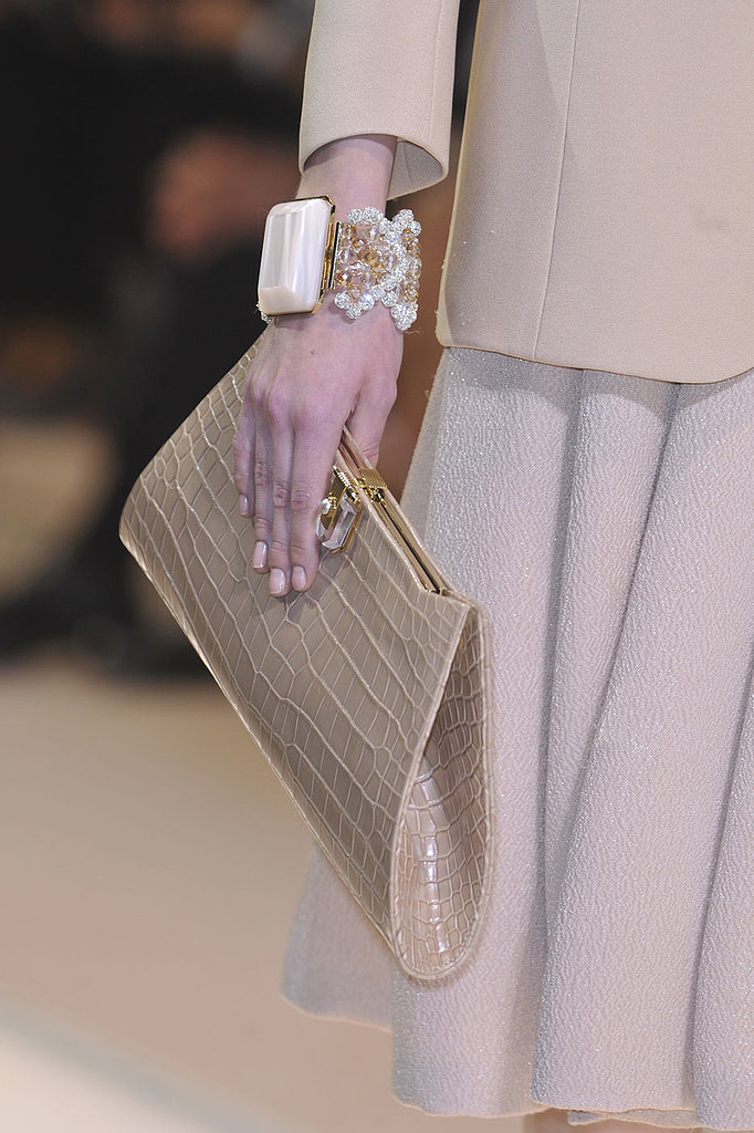 The nails at Armani Privé were a prim pink hue.