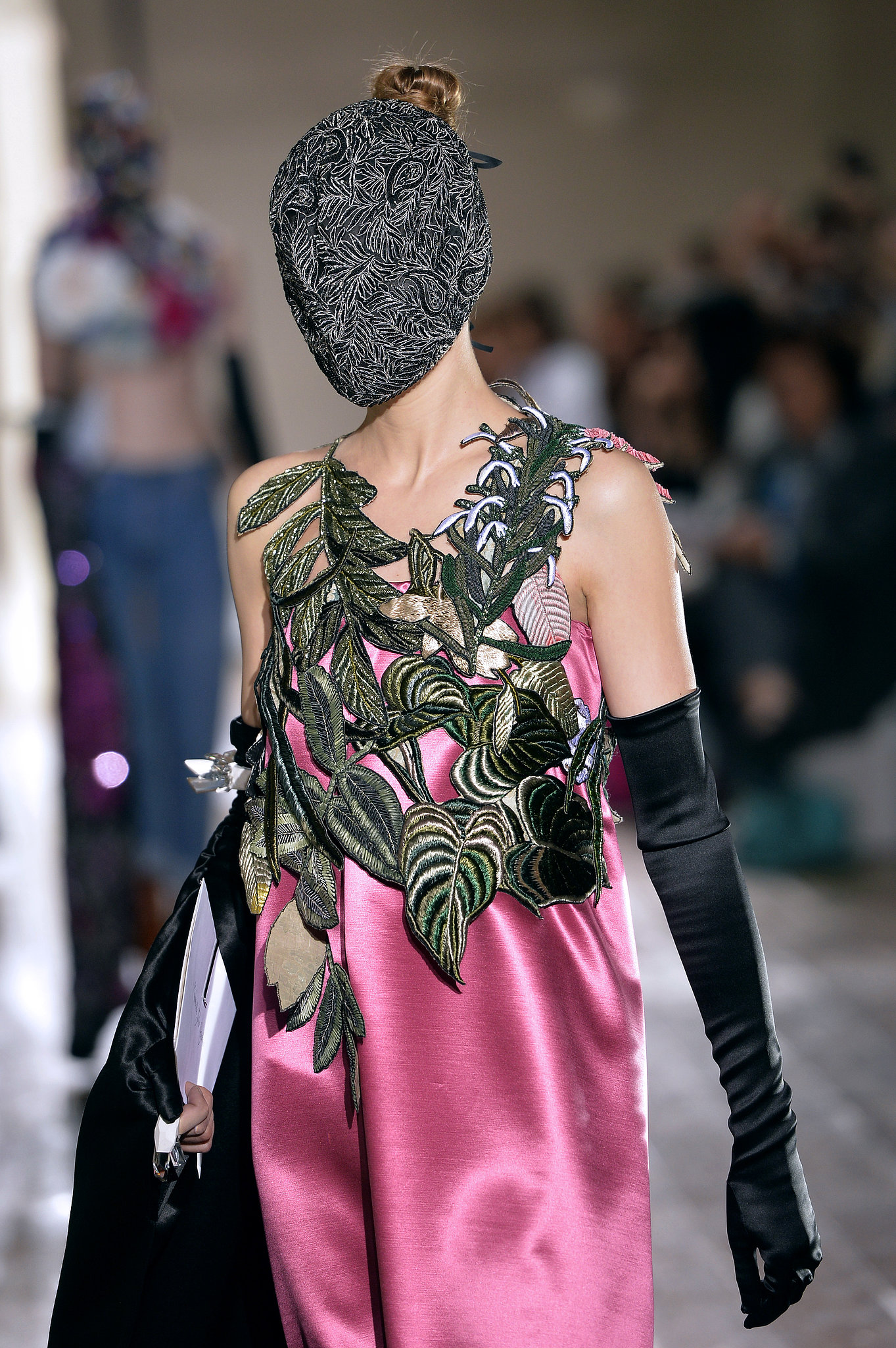 Heavy duty embroidery made the leaves on the maison martin for Margiela haute couture