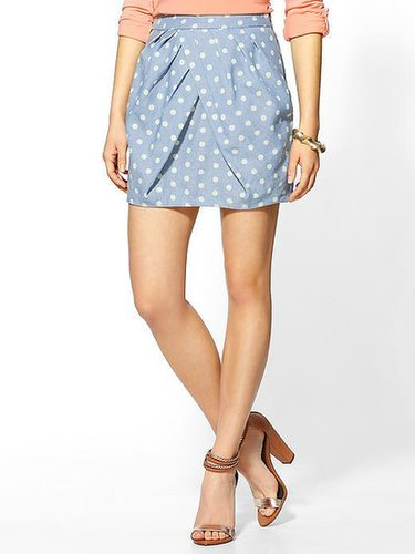 Line & Dot Polka Dot Skirt
