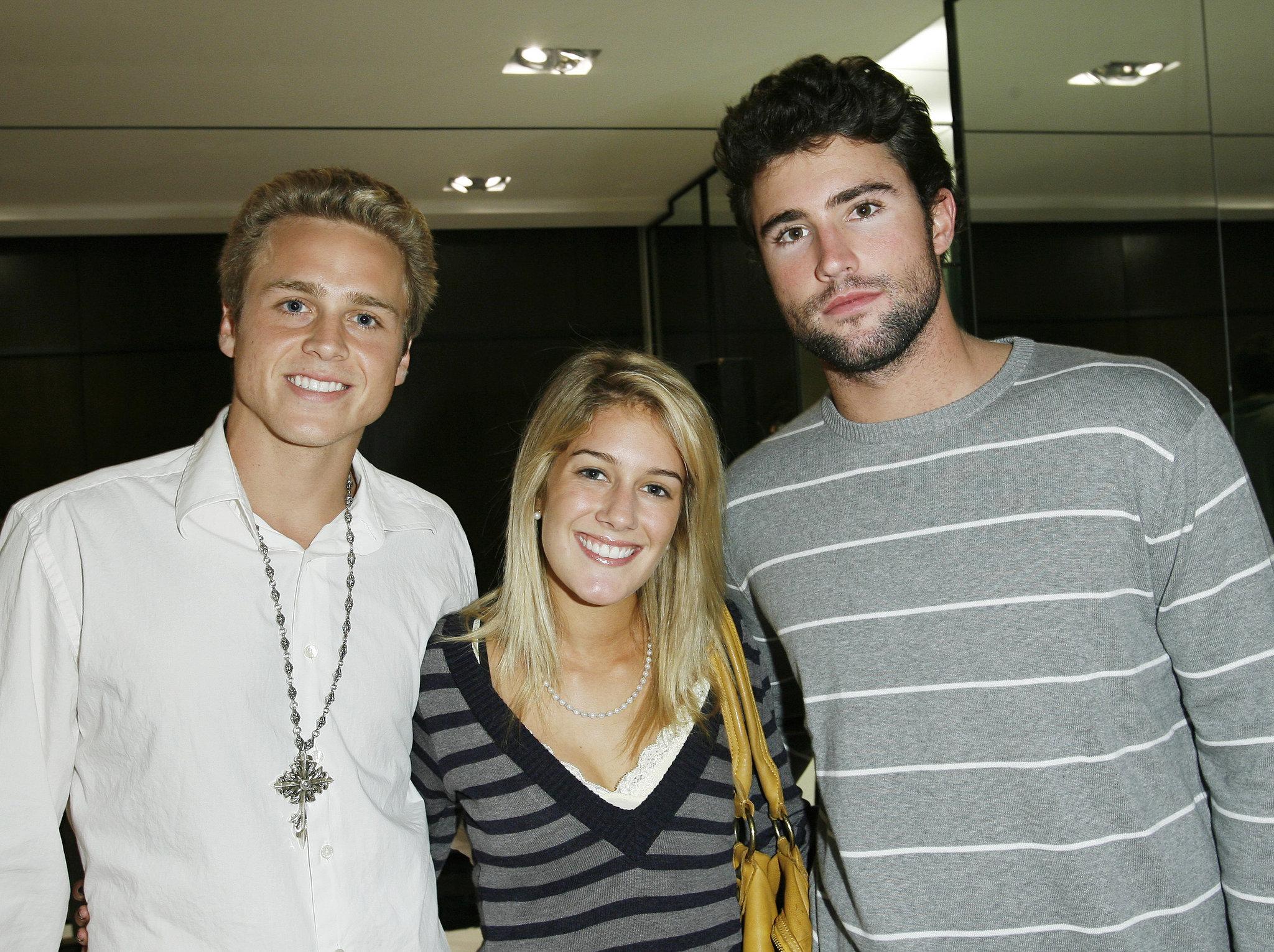 Spencer Pratt and Brody Jenner met up with Heidi Montag in LA in November 2006.