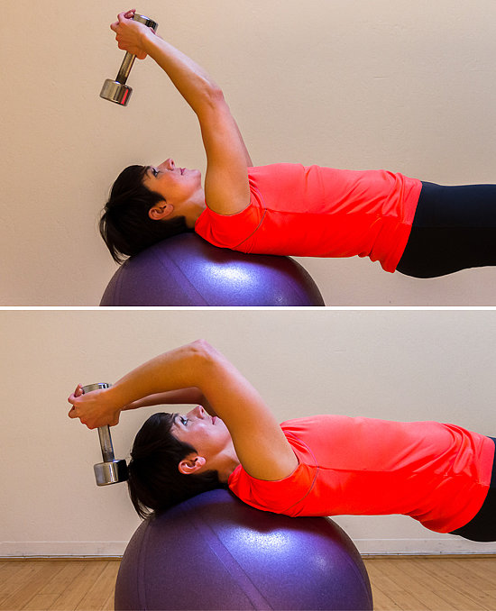 Overhead Triceps Extension on the Ball