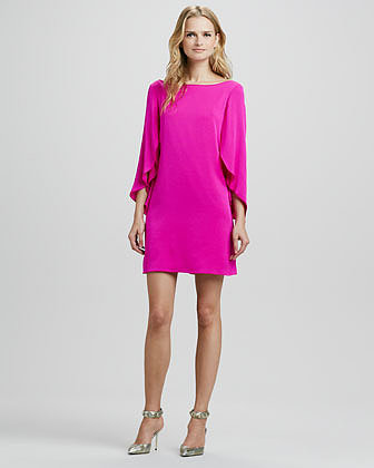 MILLY Butterfly-Sleeve Shift Dress