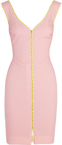Rosamosario Lovers En Space striped cotton-blend dress