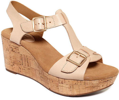 Clarks Women's Shoes, Artisan Caslynn Paula Wedge Sandals