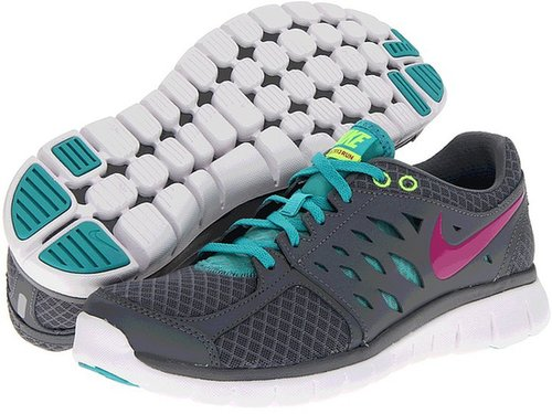 Nike - Flex 2013 Run (Cool Grey/Sport Turquoise/Volt/Fusion Pink) - Footwear