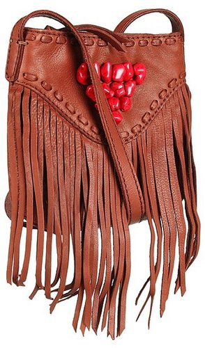 Lucky Brand - Indio Fringe Crossbody (Bourbon) - Bags and Luggage