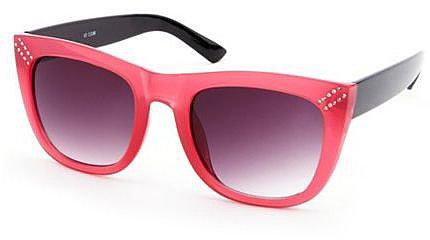 Rhinestone Trim Plastic Sunglasses