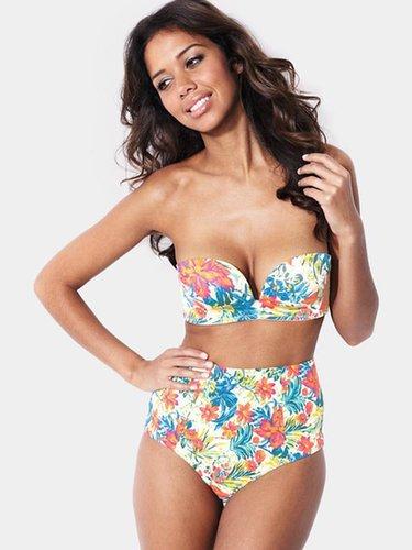 Gossard Floral Print High Waist Bikini Shorts