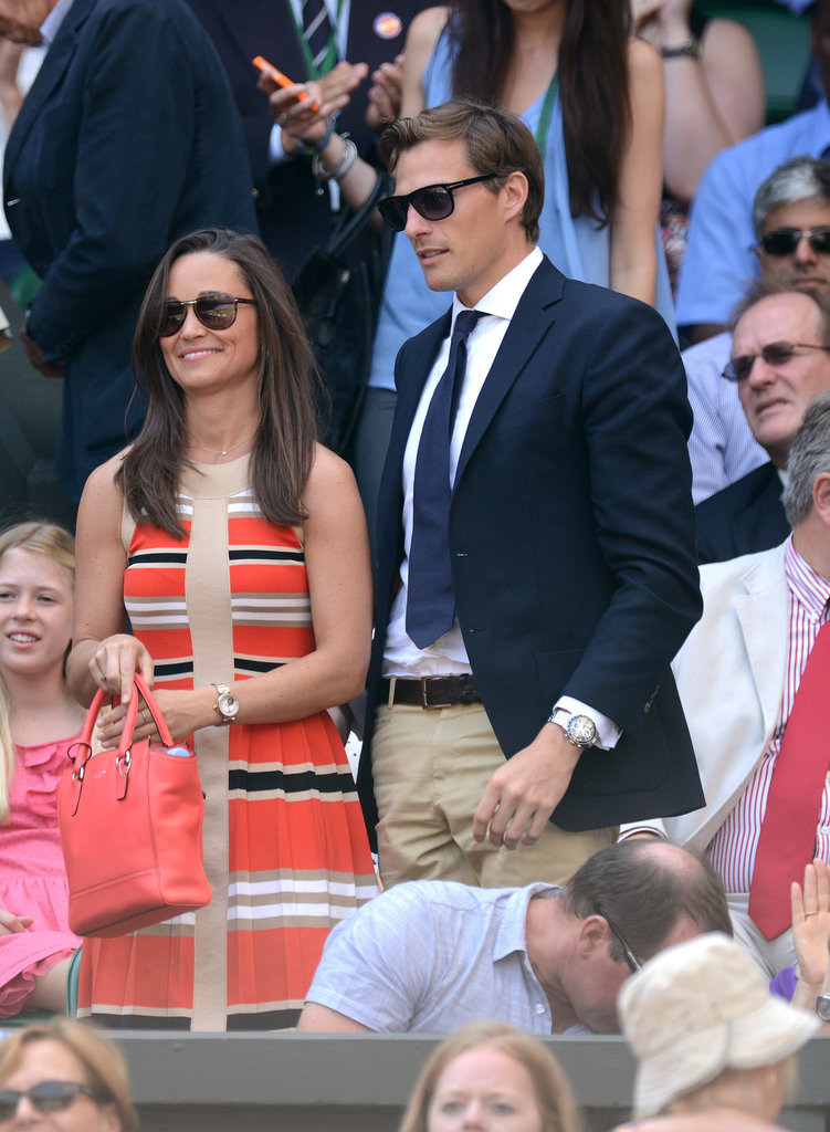 Pippa Middleton attended the Wimbledon Championships with her boyfriend, Nico Jackson, on Friday.