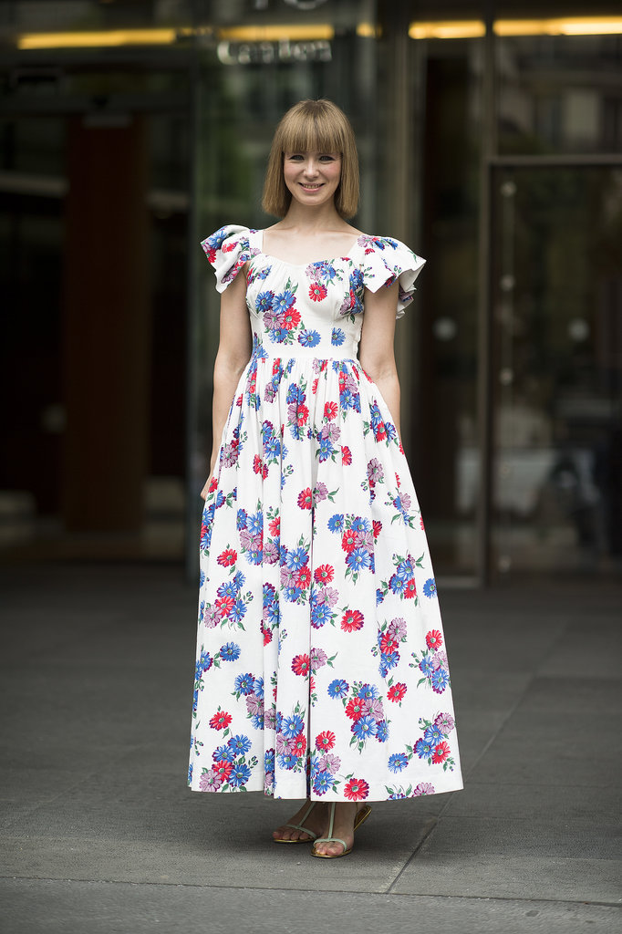 If you find a print you love, go big. This retro-feeling maxi dress had bold shoulders to boot. Source: Le 21ème | Adam Katz Sinding