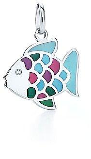 Rainbow fish charm