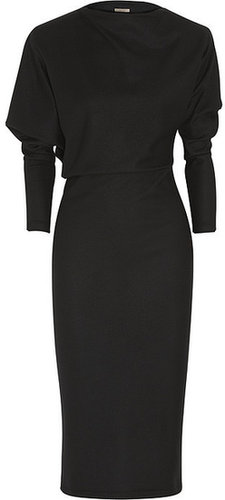 Bottega Veneta Asymmetric brushed-wool jersey dress