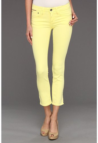 !iT Denim - Harvest Crop in Citron (Citron) - Apparel
