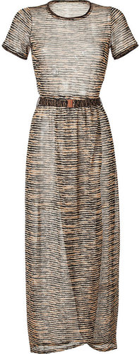 Missoni Mare Metallic Variegated Knit Maxi Dress