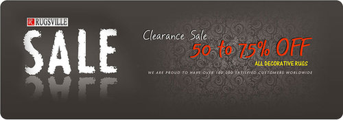 Clearance Sale at Rugsville.com  - Up to 75% Off on Rugs