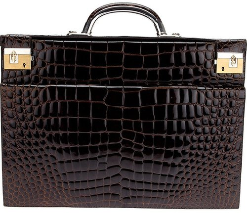Cesare Piccinini large textured briefcase
