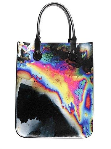 Handmade Printed Leather Tote Bag