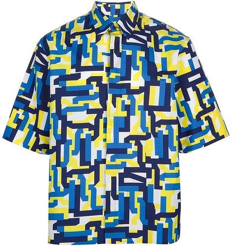 Jil Sander geometric print shirt