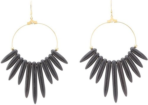 Kenneth Jay Lane - 6794EDB Earrings (Black) - Jewelry