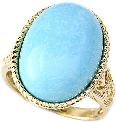 EFFY COLLECTION 14 Kt. Yellow Gold & Turquoise Oval Ring