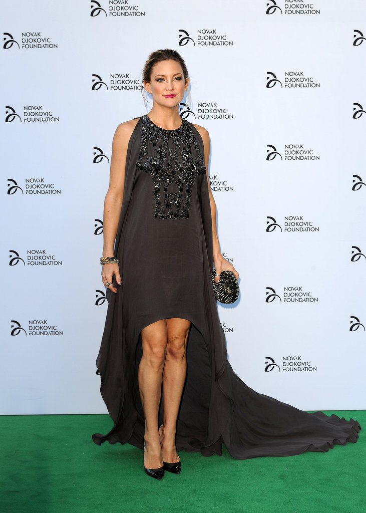 Kate Hudson wore a chocolate-colored Elie Saab gown.