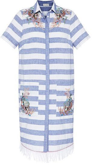 Preorder Suno Embroidered Shirt Dress