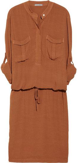 James Perse Crepe shirt dress