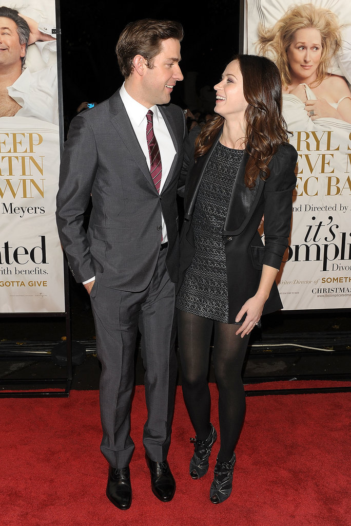 John had Emily's support at the premiere of his comedy It's Complicated in NYC in Dec. 2009.