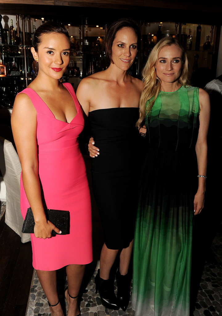 A Jonathan Saunders-clad Diane Kruger joined Catalina Sandino Moreno and Annabeth Gish at the afterparty for The Bridge.