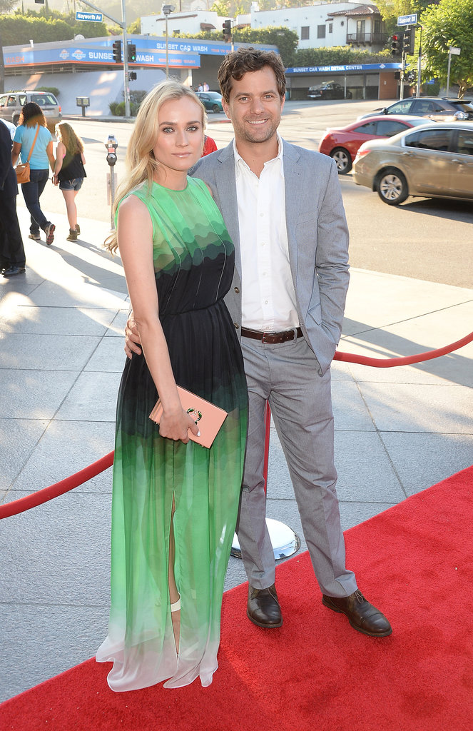 Diane Kruger had the support of Joshua Jackson on the red carpet.