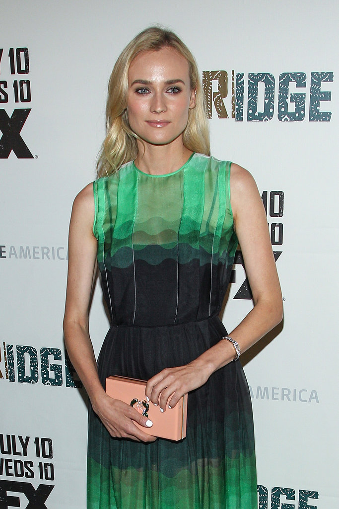 Diane Kruger wore a sheer green gown.