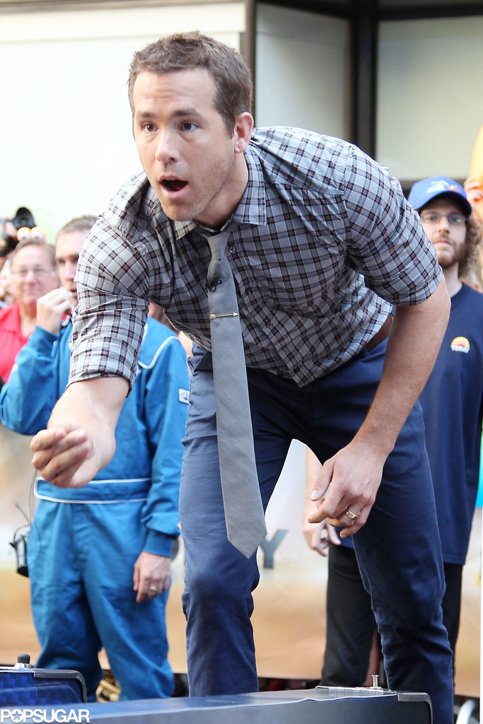 Ryan Reynolds Creams the Competition During a Skee Ball Match in NYC