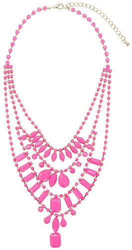 Adia Kibur Neon Pink Lights Necklace