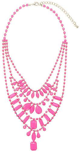 Adia Kibur Neon Pink Lights Necklace