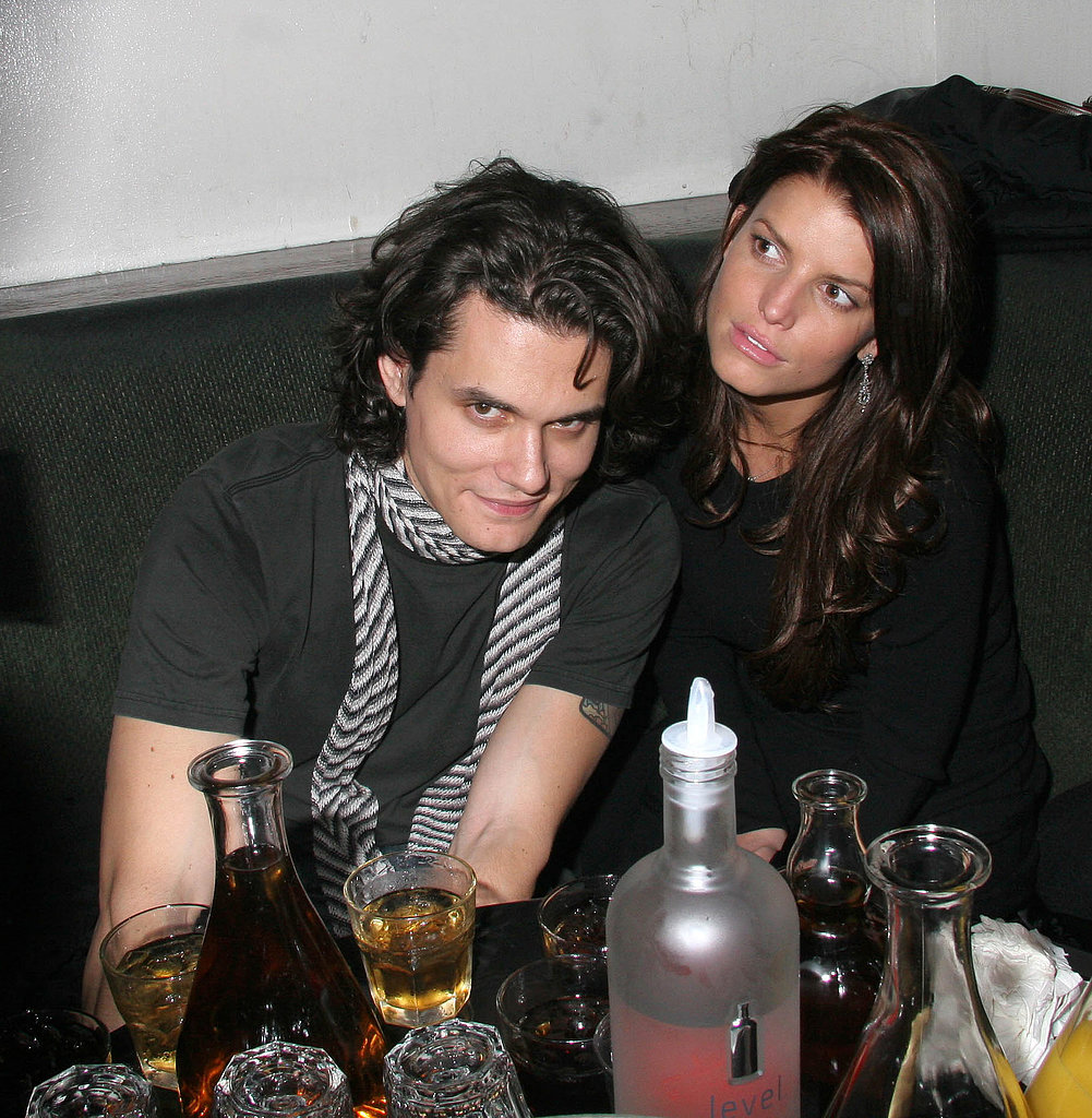 Jessica Simpson dated John Mayer for a little over a year and joined him for drinks in NYC in March 2007.