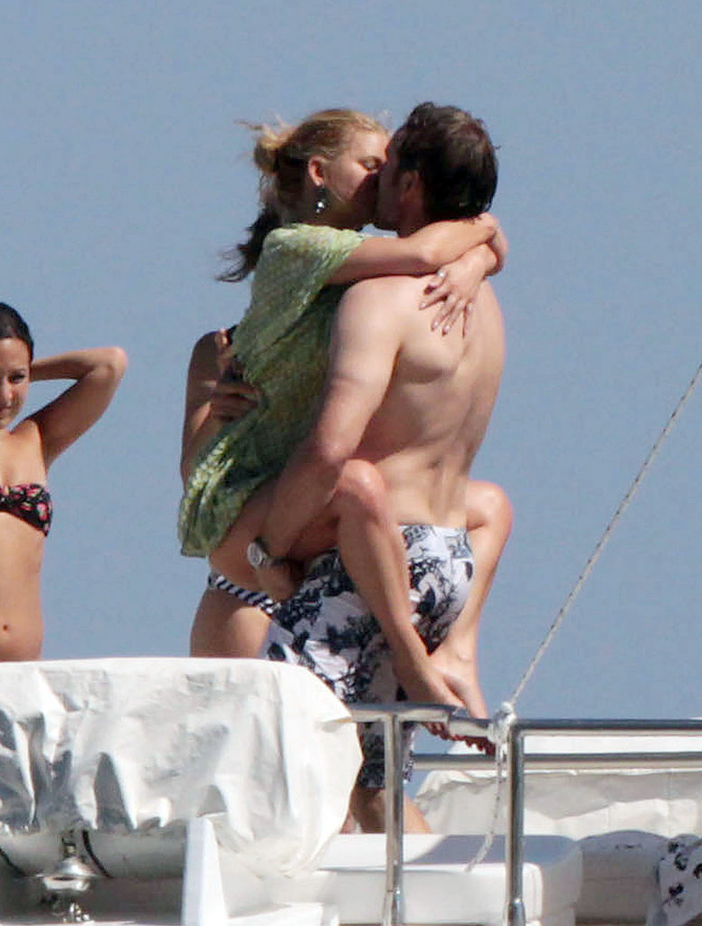 Jessica Simpson and Eric Johnson shared a sexy moment while on a boat in Italy during her 30th birthday celebration in July 2010.