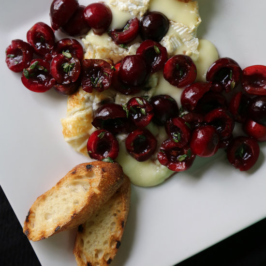 Grilled Brie With Fresh Cherries Recipe