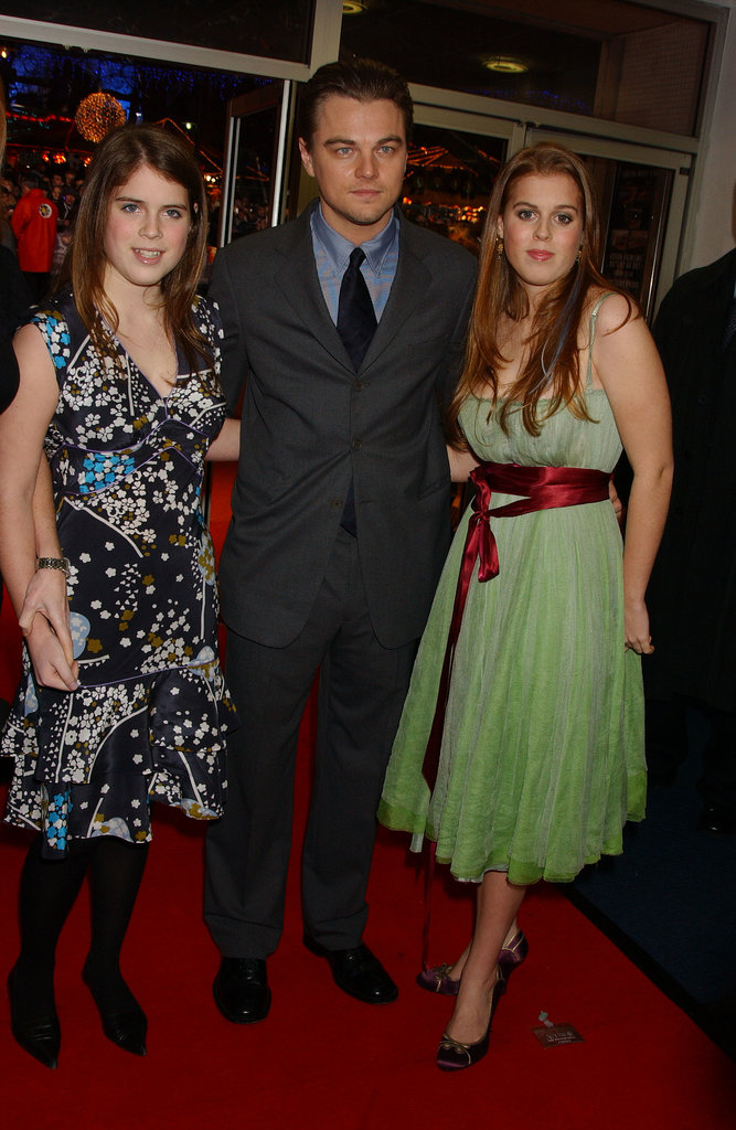 Princess Eugenie, Leonardo DiCaprio, and Princess Beatrice