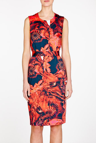Preen Poppy Blaise Stretch Cotton Pencil Dress